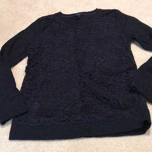 Jcrew lace sweatshirt
